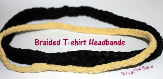 braided t shirt head bands