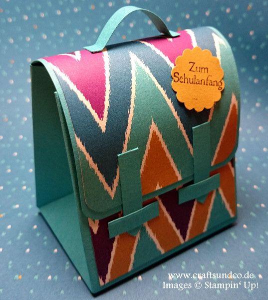 Geschenkverpackung Schulranzen - zur Einschulung von Crafts & Co auf DaWanda.com