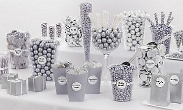 Silver Candy Buffet: