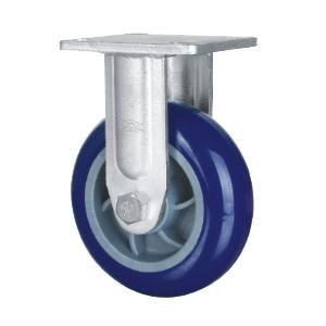 """Descripción:  Material de la rueda: Caucho Hi-elástico, TPU  Tamaño: 5 """"x 50mm; 6"""" x 50 mm; 8 """"x 50 mm  Capacidad de carga: 300kg-500kg  Tipo de rodamiento: Dual Ball Bearing  Tipo Opcional: rígido, placa giratoria  popular utilizado en los echadores cubo de basura, cubo de basura con ruedas, ruedas de camión mano, ruedas industriales www.casterwheelsco.com ; sales@casterwheelsco.com"""
