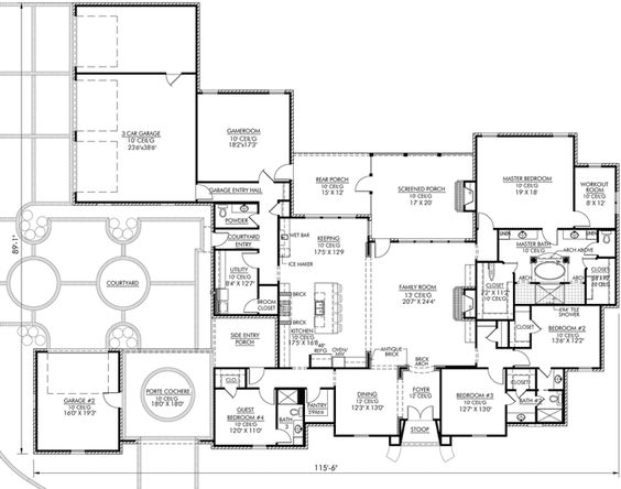 French Country Style House Plans   Square Foot Home  Story    French Country Style House Plans   Square Foot Home  Story