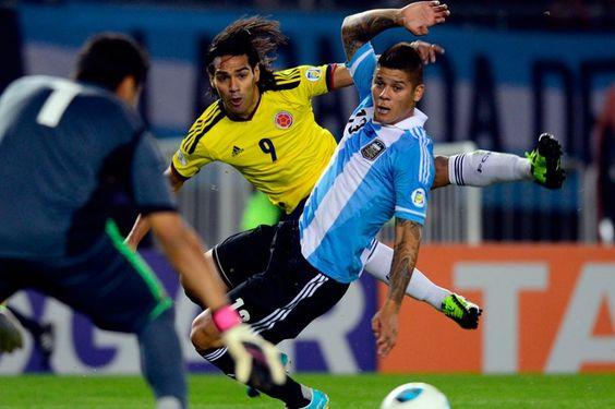 Argentina-Colombia, en imágenes