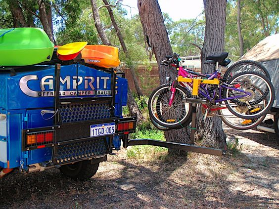Happy New Year Everyone! We're still going through the planning process for purchasing our camper trailer and are now looking at options for carrying bikes. We have an existing bike rack which we use on our car (it's one of those special ones ...