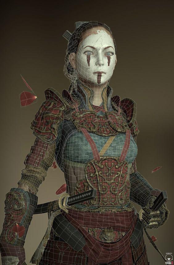 Samurai, Andres Naranjo on ArtStation at http://www.artstation.com/artwork/samurai-77d29b0c-6ca7-4c17-b628-f5e3d5f669f6