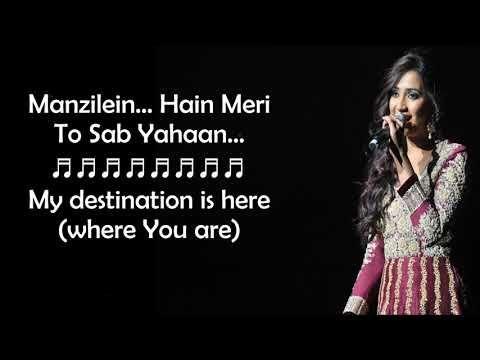 Kabhi Jo Baadal Barse Female Version Shreya Ghoshal Lyrics With English Translation Youtube Lyrics All Songs English Translation