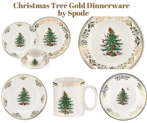Christmas Tree Gold Dinnerware by Spode