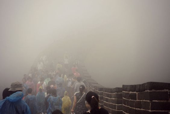 """Climbing the Great Wall of China as it slowly appears from the fog.""    Smithsonian.com Photo of the Day: September 05, 2012. Photo by Heather Grace."