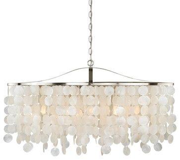 "Elsa Capiz Shell 36"" Pendant Satin Nickel contemporary-ceiling-lighting"