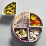 Verrines et cuillères assorties en verre ou céramique, plat à compartiments : Decoclico