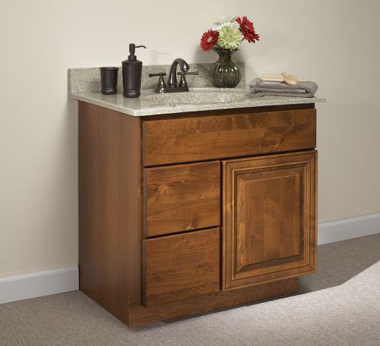Amish Kitchen Cabinets Knotty Alder: Williamsburg Woodbury Knotty Alder