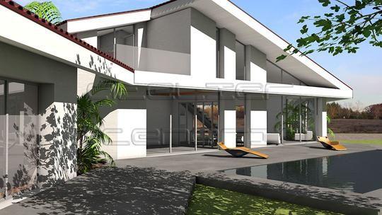 Maison Contemporaine De 250 M2 Ultra Contemporaine Grace A Ses Toitures Monopentes En Tuiles Et Ses Casque Plan Maison Architecte Maison Architecte Plan Maison
