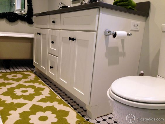 Dayton Painted White Mission Bathroom Vanity Cabinets From