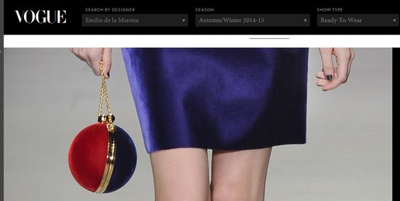 Sophia Beckford Royal Clutch in featured on British Vogue.co.uk
