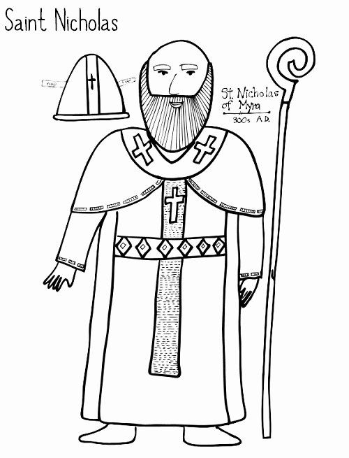 32 Saint Nicholas Coloring Page In 2020 Coloring Pages Free