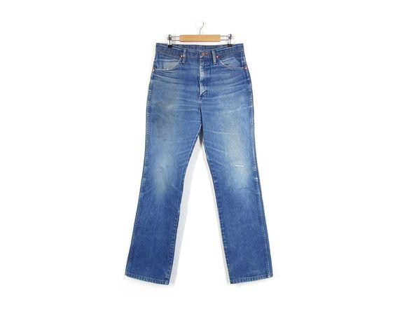Vintage Wrangler Jeans -- High Waisted / Slim Fit / Straight Leg ...