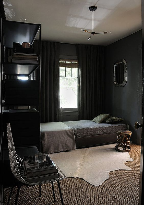 Fiction: Painting a room with dark paint will make a space feel small and enclosed. Dark colors can easily feel overbearing and uninviting.    Fact: Using dark paint in a room may be one of the best design decisions yet! Dark paint will make a room