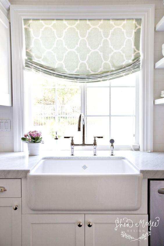 Another faux Roman idea.  Short window treatments would also be Von proof!