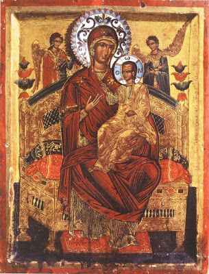 Agion Oros - Mount Athos: 0057 – The Miraculous Icon of Panagia Pantanassa –...: