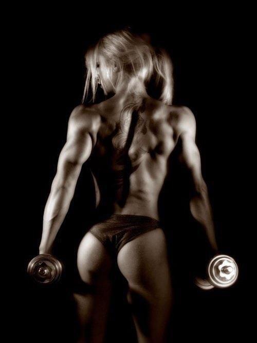 Motivation girl squat