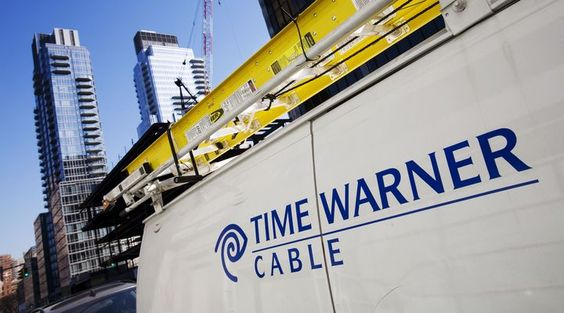 A Time Warner Cable truck is parked in New York.