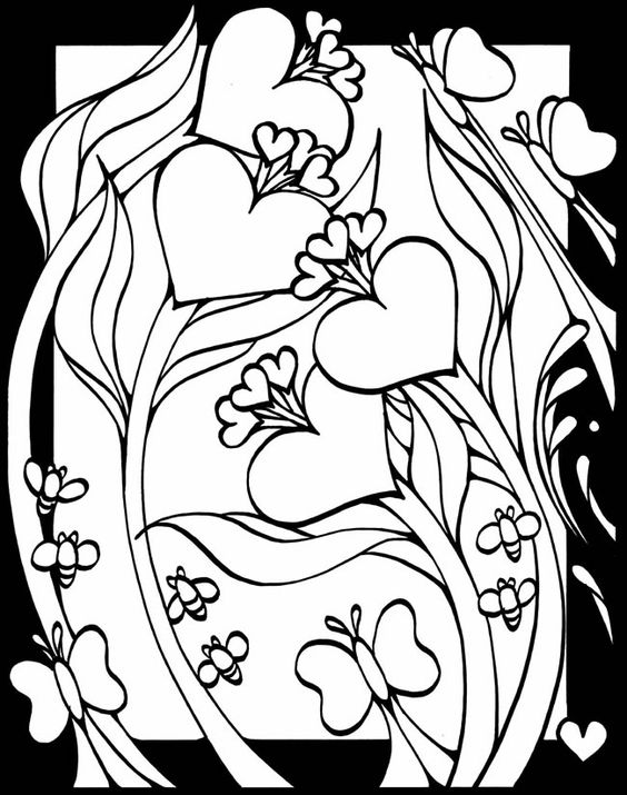 valentines stained glass coloring pages - photo#6