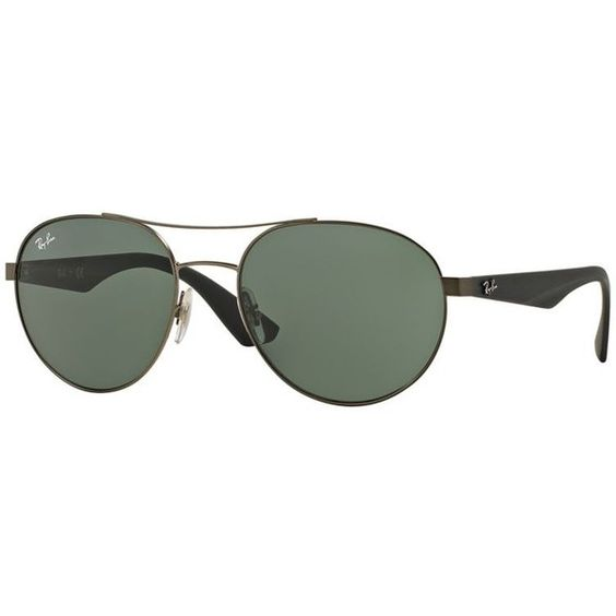 Ray-Ban Black Sunglasses, Green Lenses - Rb3536 (3.865 UYU) ❤ liked on Polyvore featuring accessories, eyewear, sunglasses and black