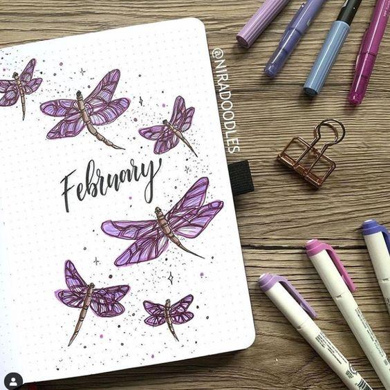 30 idées pour votre page de février dans votre bullet Journal