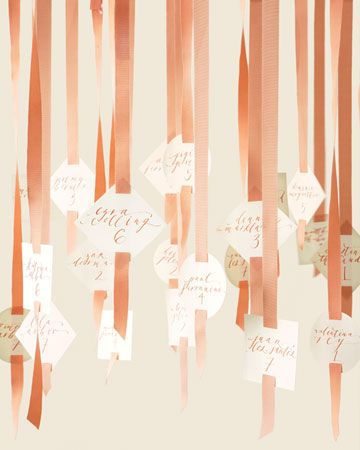 Peach Escort Cards #ribbon #camillestyles