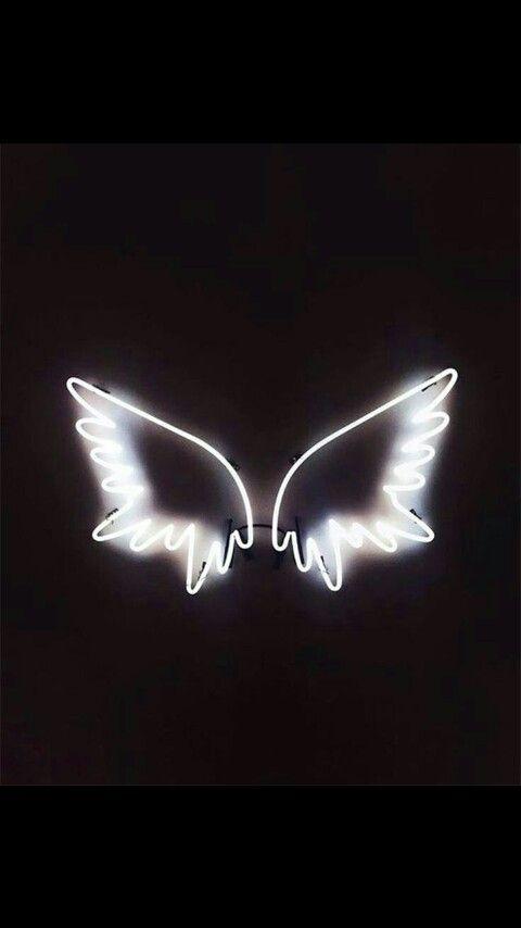 Neon Angel Wing Sign Neon Signs Neon Sign Bedroom Neon Wallpaper Aesthetic iphone angel wings wallpaper