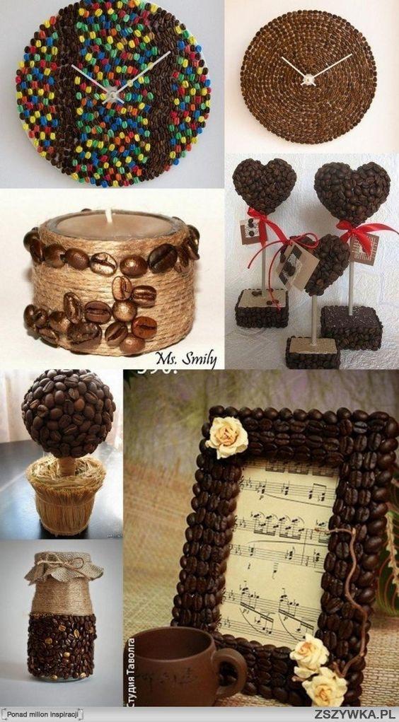 #Ideas para #accesorios de #decoración con #granos de #café caducados  #HOWTO…