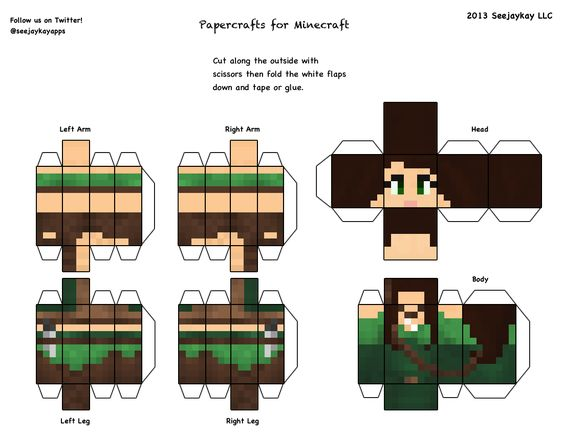 Minecraft skins 3d cut out minecraft party pinterest for Minecraft cut out templates