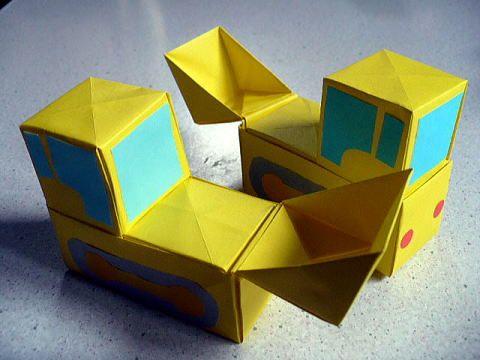 はたらくくるま 箱折りバージョン おりがみやさん 折り紙 車 クリスマス ハンドベル 手作り おもちゃ 車
