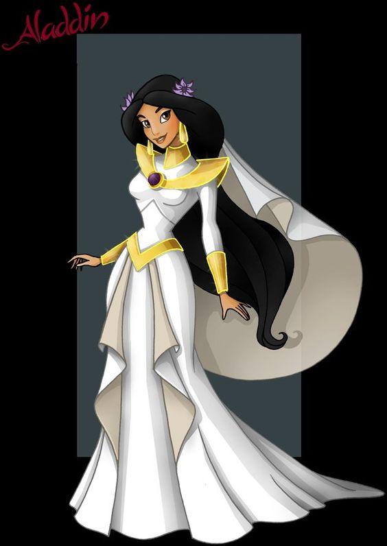 Jasmine cartoon deviantart princess jasmine wedding for Jasmine wedding dress disney
