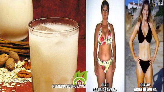 Adelgazar naturalmente con agua de avena hasta 10 kilos en 45 dias | Remedios De Hoy