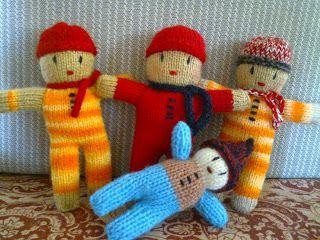 JUD artes: Mais bonecas em tricô...