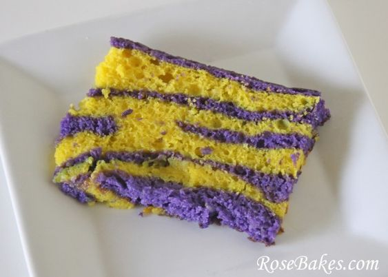 Tiger striped cake. I MUST MAKE THIS FOR FOOTBALL SEASON!
