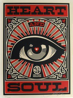 Shepard Fairey & Studio Number One's poster design for the Non-Toxic Revolution