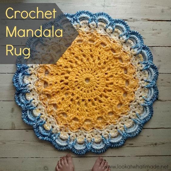 Crochet Patterns For Mandala Yarn : Crochet Mandala Rug by Lookatwhatimade. Made using John P ...