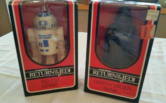 *VINTAGE* Star Wars RETURN OF THE JEDI BANKS Vader/R2-D2-1983 NOS in Collectibles, Science Fiction & Horror, Star Wars | eBay