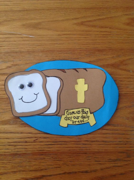 Our daily bread bible craft for kids children 39 s church for Bible school crafts for toddlers