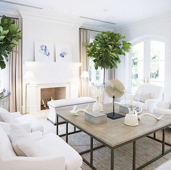 Living room beach house living room with white walls - White walls living room ...