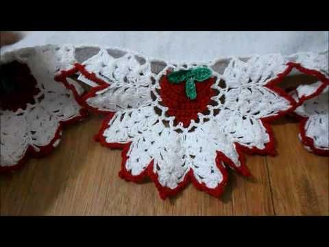 Barrado Morango Em Croche Youtube Barrados De Croche Bico De