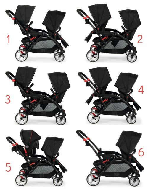 The NEW Contours Options Elite Tandem Stroller with 7 ...