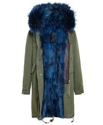 MR & MRS ITALY  |  Long Fox Fur Lined Parka: