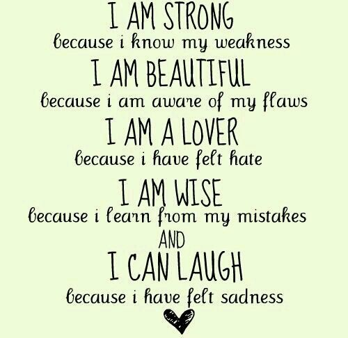 Pinterest Beautiful Quotes: I Am Strong, I Am Beautiful..... #quote