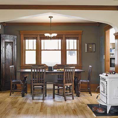 Marvelous Dining Room Paint Colors Dark Wood Trim