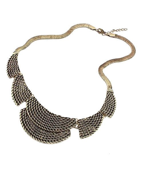 Vintage Exaggerated Necklace with Twisted Texture