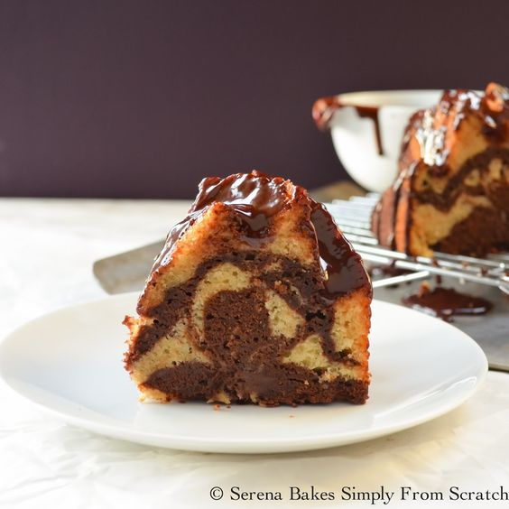 how to make marble pound cake from scratch