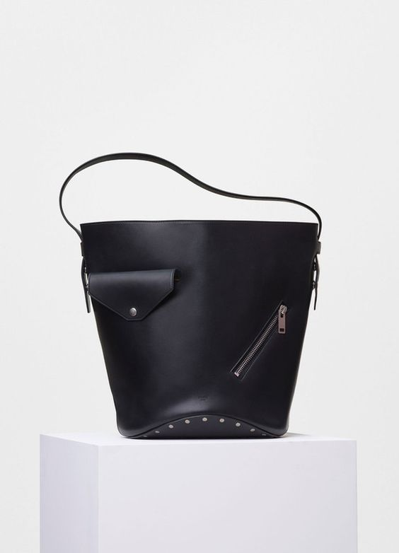 Biker Bucket Bag in Natural Calfskin - セリーヌについて
