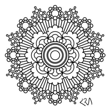 Intricate Mandala Coloring Pages Flower Henna Coloring